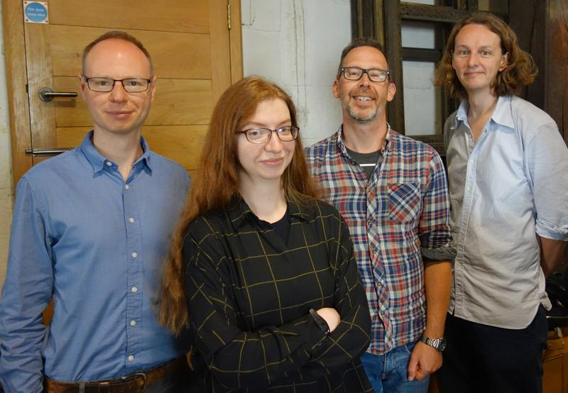 Members of the project team at St Paul's Cathedral, October 2019 - left to right: Simon Carter, Amy Harris, Jason Edwards, Greg Sullivan